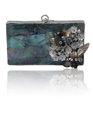 Hermosa - Celestina Grey Clutch