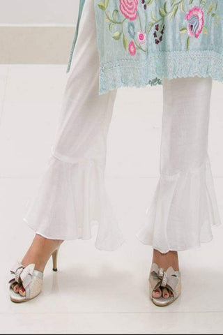 Mehr - White Cotton Silk Pants - PF 01