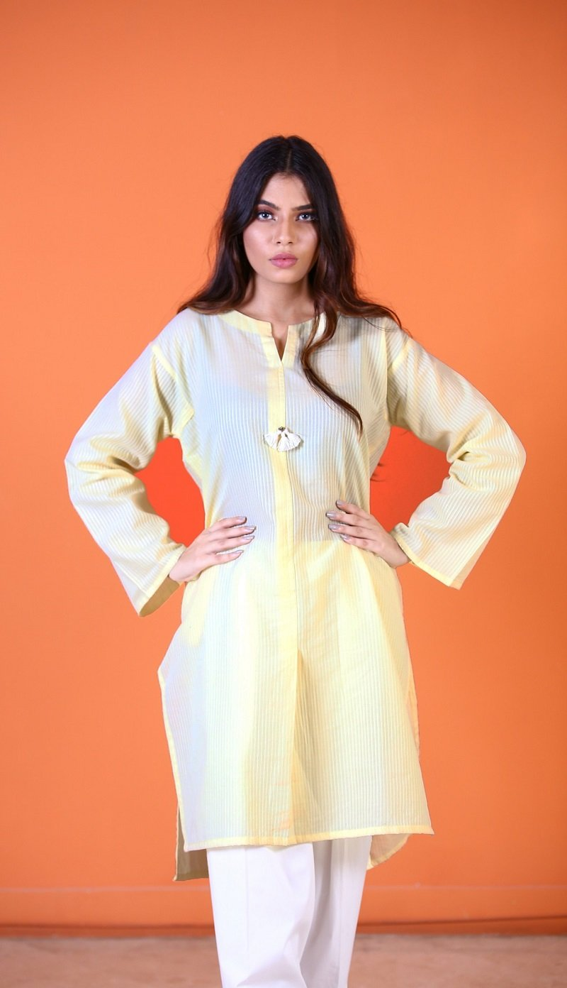 Yasmin Zaman - Yellow Strip Shirt - P-214