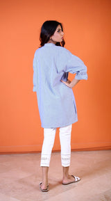 Yasmin Zaman - Blue Strip Shirt - P-213