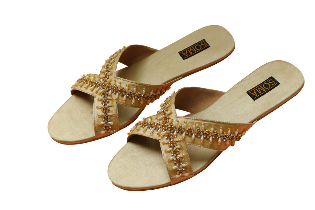 Soma - Light Golden Rubempe Crystal Cross Hand Crafted Footwear