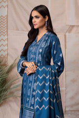 Bonanza Satrangi - Blue Jacquard Suit - 3 PC