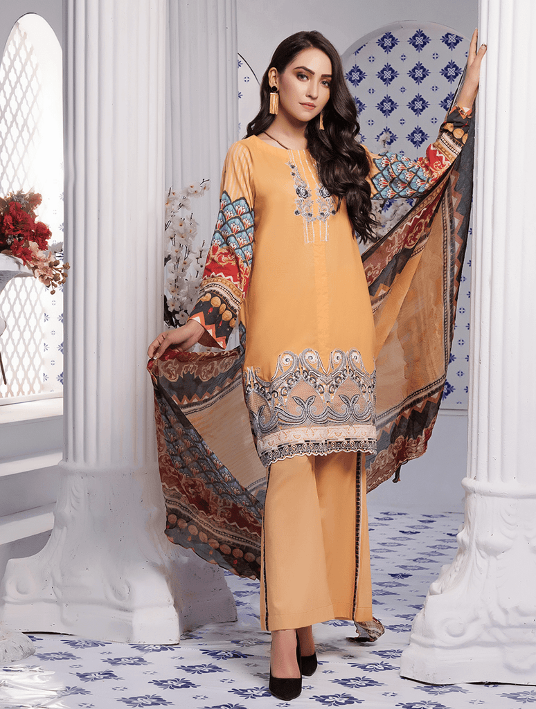 Khas Stores - Unstitched Ethnic Glore Kc-5054