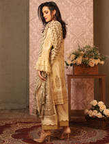 Khas Stores - Cream Furious Waves 3 PC - KC - 5080 - Unstitched