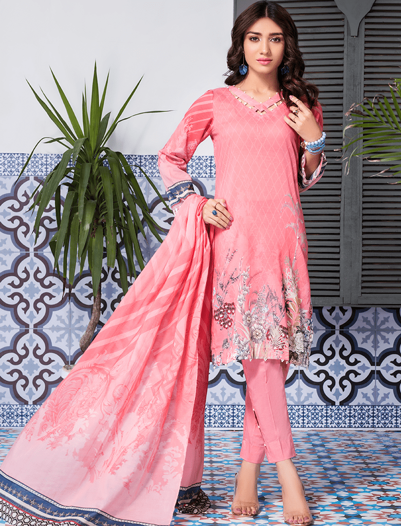 Khas Stores - Peach Mellow Fashion 3 PC - KLA - 9088 - Unstitched
