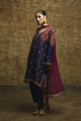 Yasmin Zaman - Purple Self Banarsi Suit - F-117