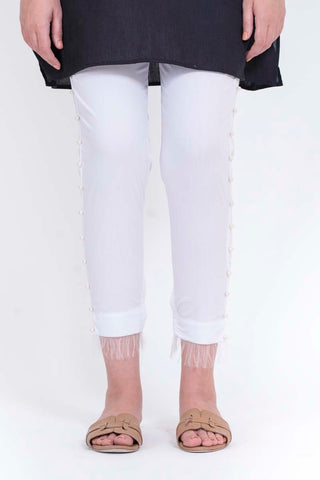 Ego - White Pearl Straight Pants