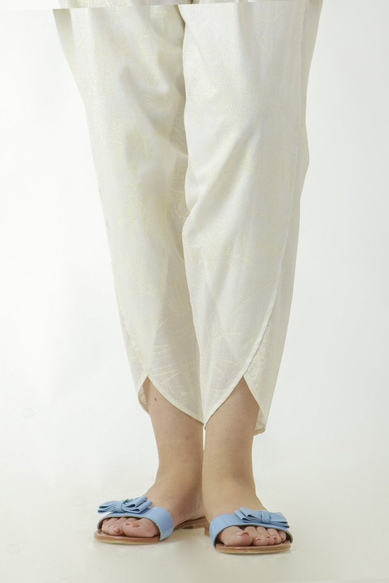 Ego - Off White Printed Tulip Pants