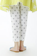 Ego - White Black Flower Pants