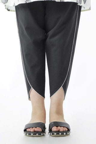 Ego - Black Outlined Pants - LW0195