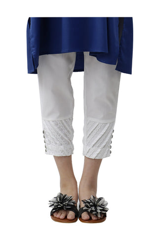 Ego - Off White Diagonal Pants