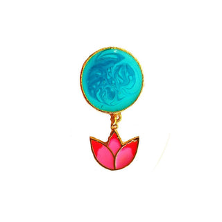 Red Dot Jewels - Lotus Charm Ring
