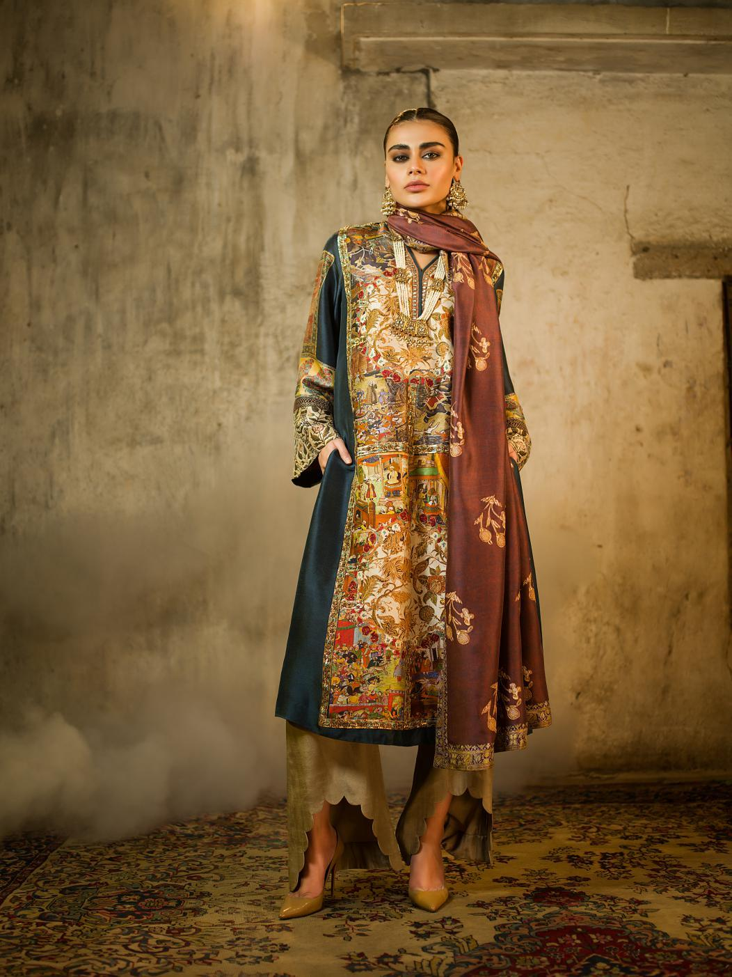 Shamaeel - Digitally Printed Long Tunic - M4