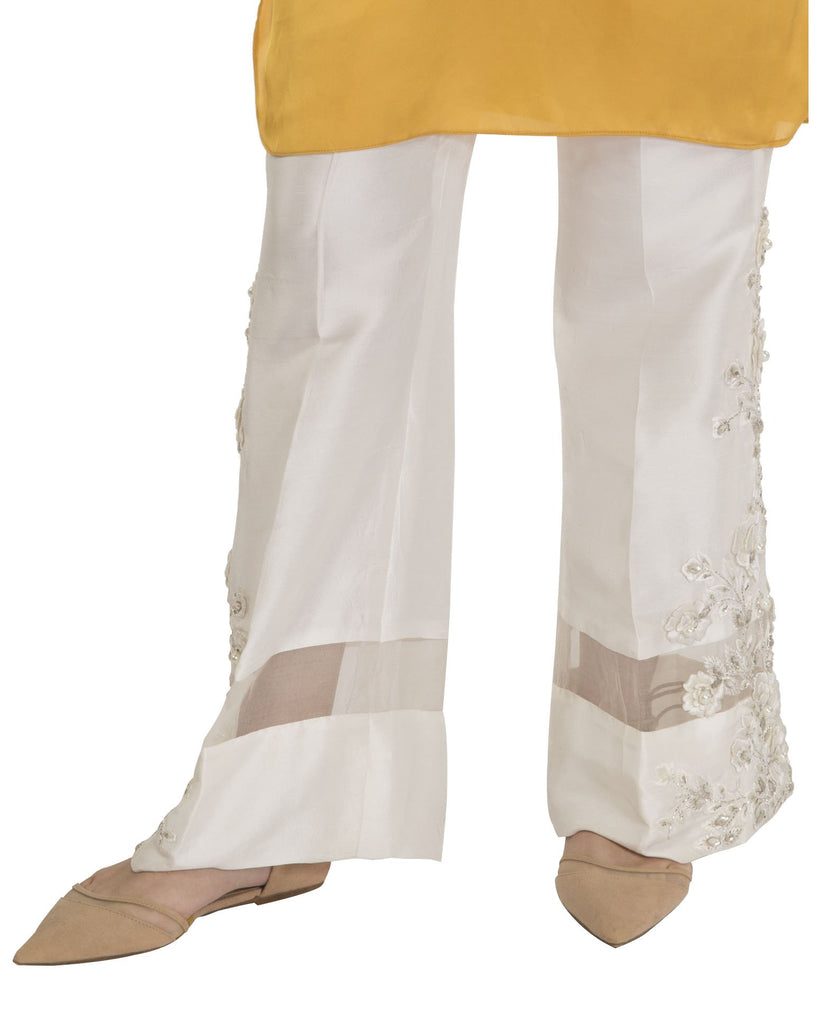 Maheen Ghani Taseer - Embroidered Silk Pants