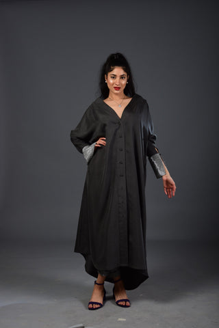 Maheen Khan - Gray Silk