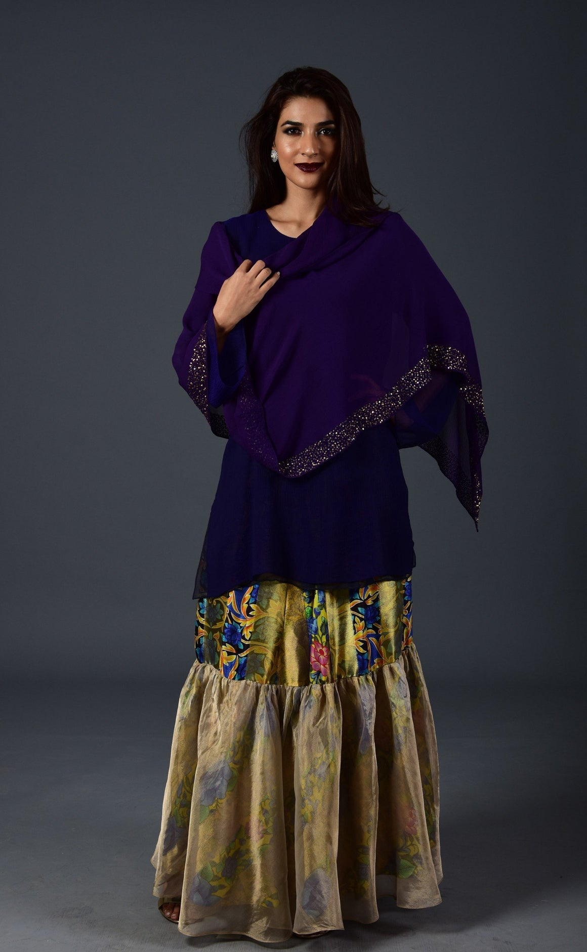Maheen Khan - Purple Chiffon