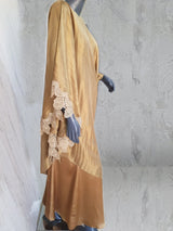 Maheen Khan - Gold Silk Tunic