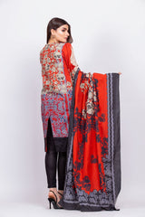 Alkaram Studio - Red - 2 Piece Embroidered Suit with Lawn Dupatta
