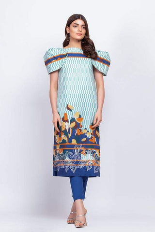 Alkaram Studio - Blue - 2 Piece Embroidered Suit with Cambric Trouser