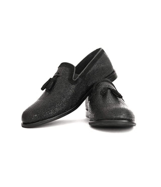 Mochi Cordwainers - Black Medici slipons