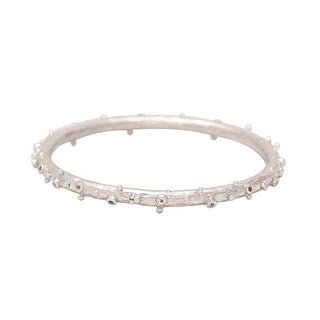Vanessa Heaney - Moonscape Moonstone Silver Bangle