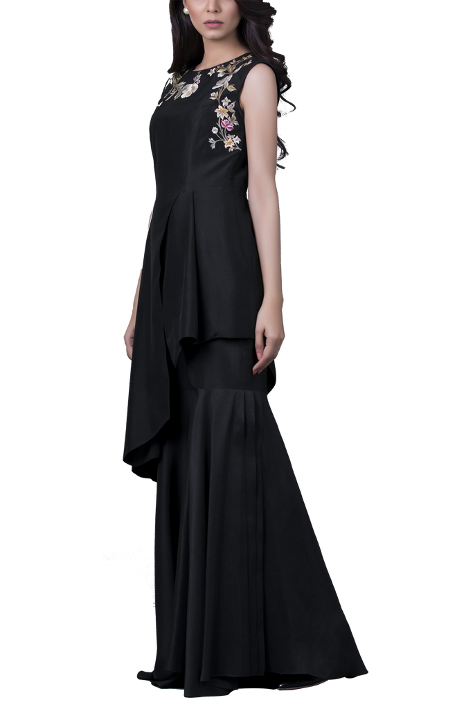 Sania Maskatiya - Raw Silk Embroidered Peplum