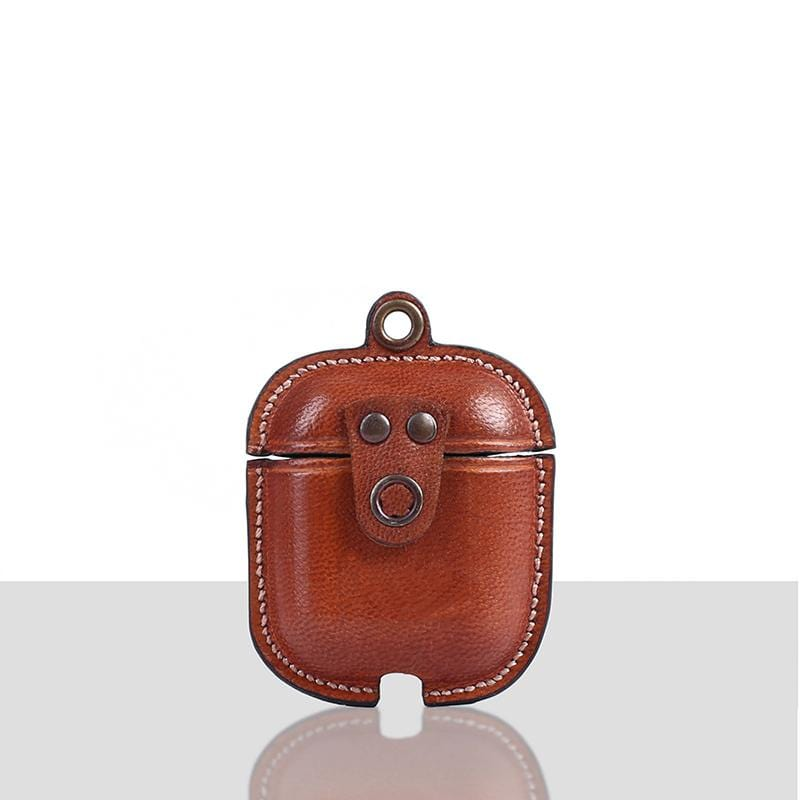 Novado - Mario Veg Tanned Leather Luxury Protective Cover Case for Apple Airpods 1 & 2 - 7109-SA09-09