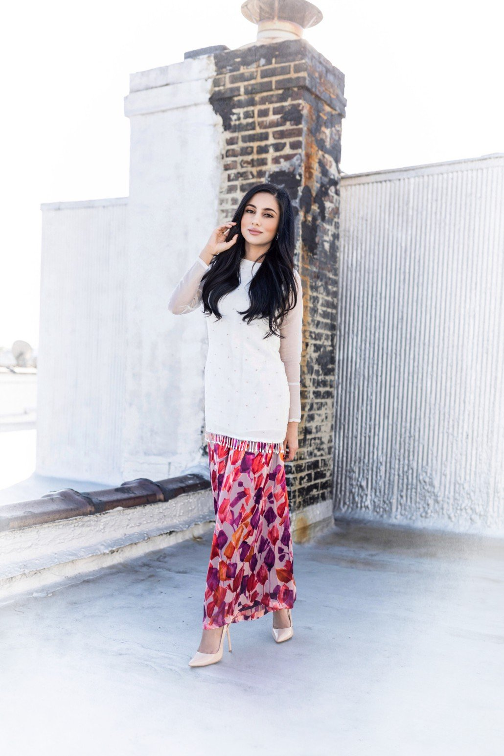 Samaira Ghani -  Fitted Tassel Shirt With Palazzo Pants