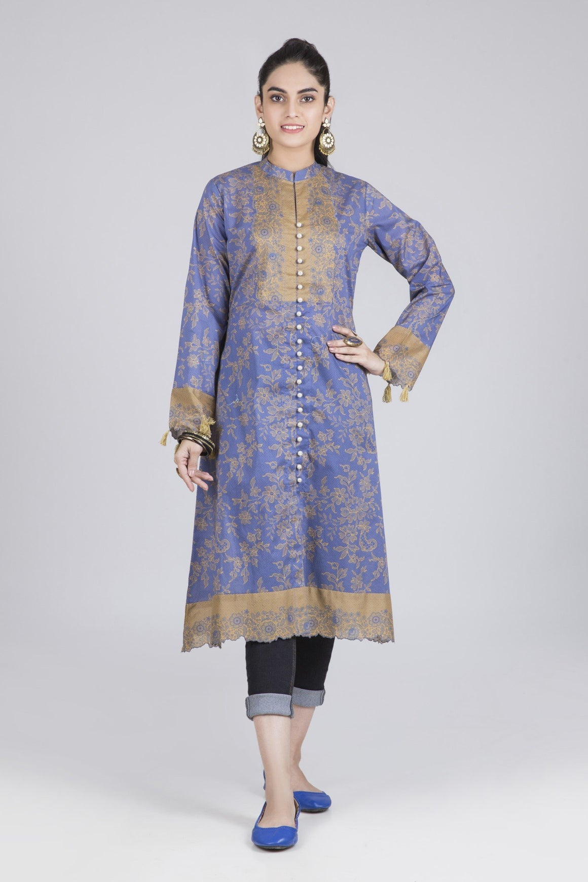 Bonanza Satrangi - Blue Azure Blue - 1 PC