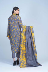 Bonanza Satrangi - Dark Gray Dreamy Sky B - 3 PC