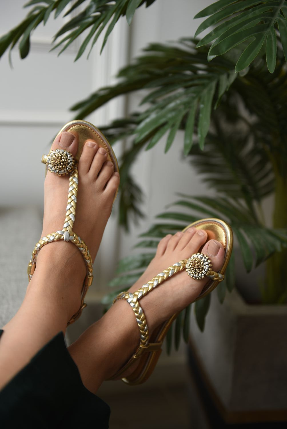 Illume - Gold and Silver Raya Sandal