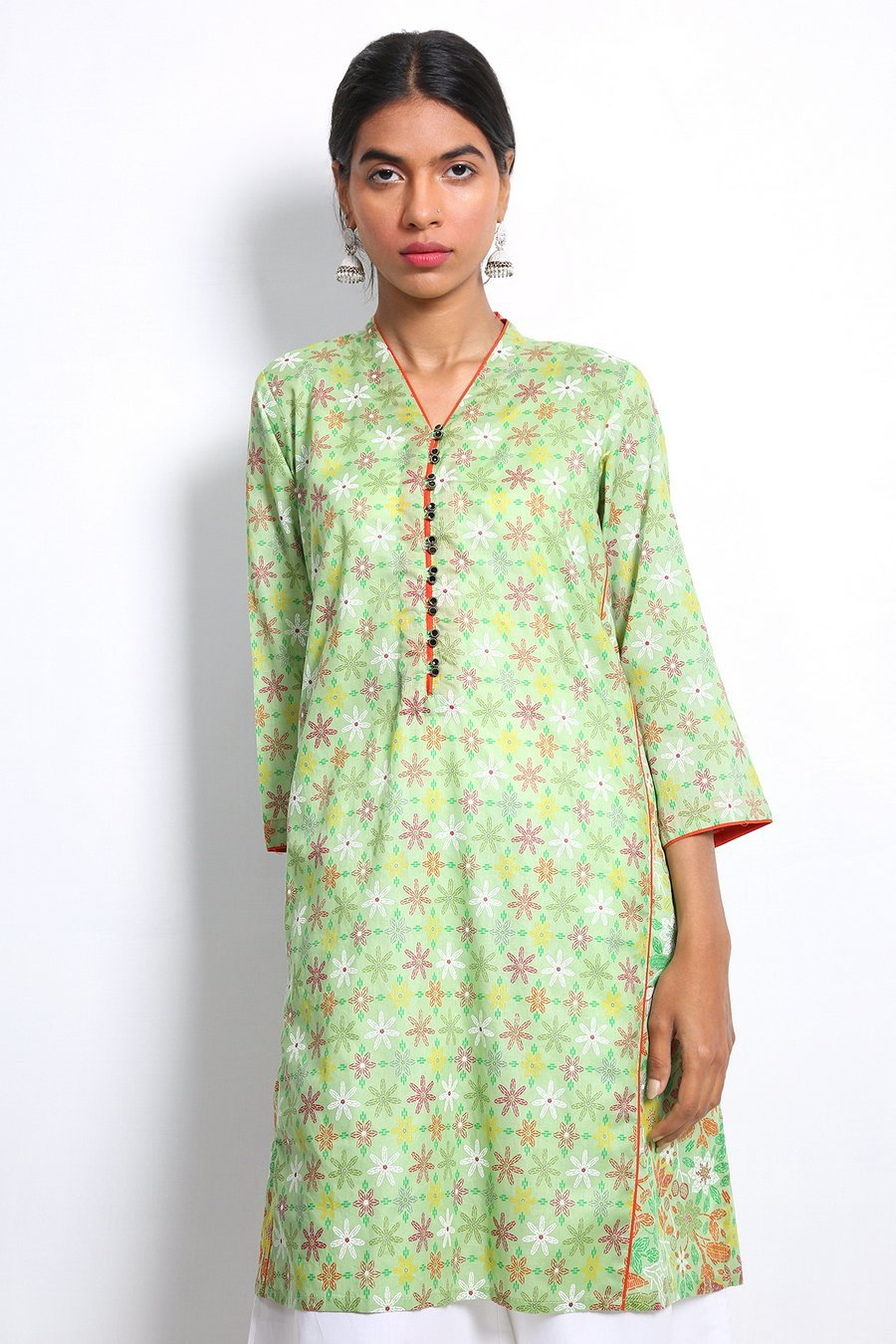 Generation - Green Beaded Kurta - 1 PC