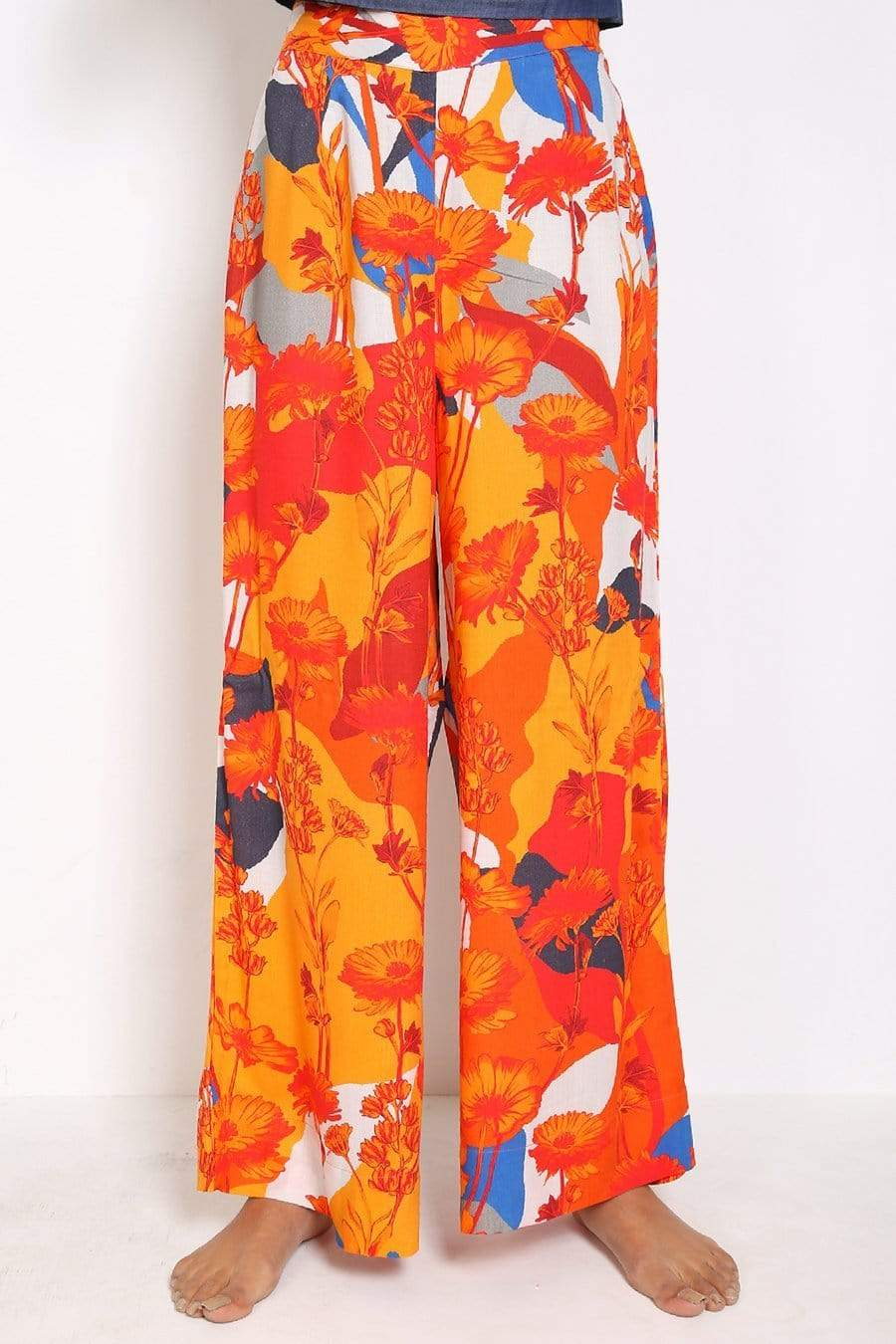Generation - Orange Pajama Party Flared Pants
