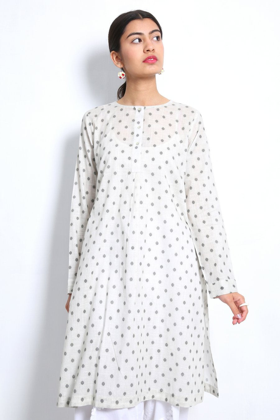 Generation - White Bahar Brew Kurta - 1 PC
