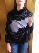Amishi - Grey & Black Lillia Lace