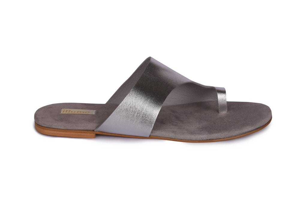 Illume - Silver Metallic And Light Grey Silver Toe