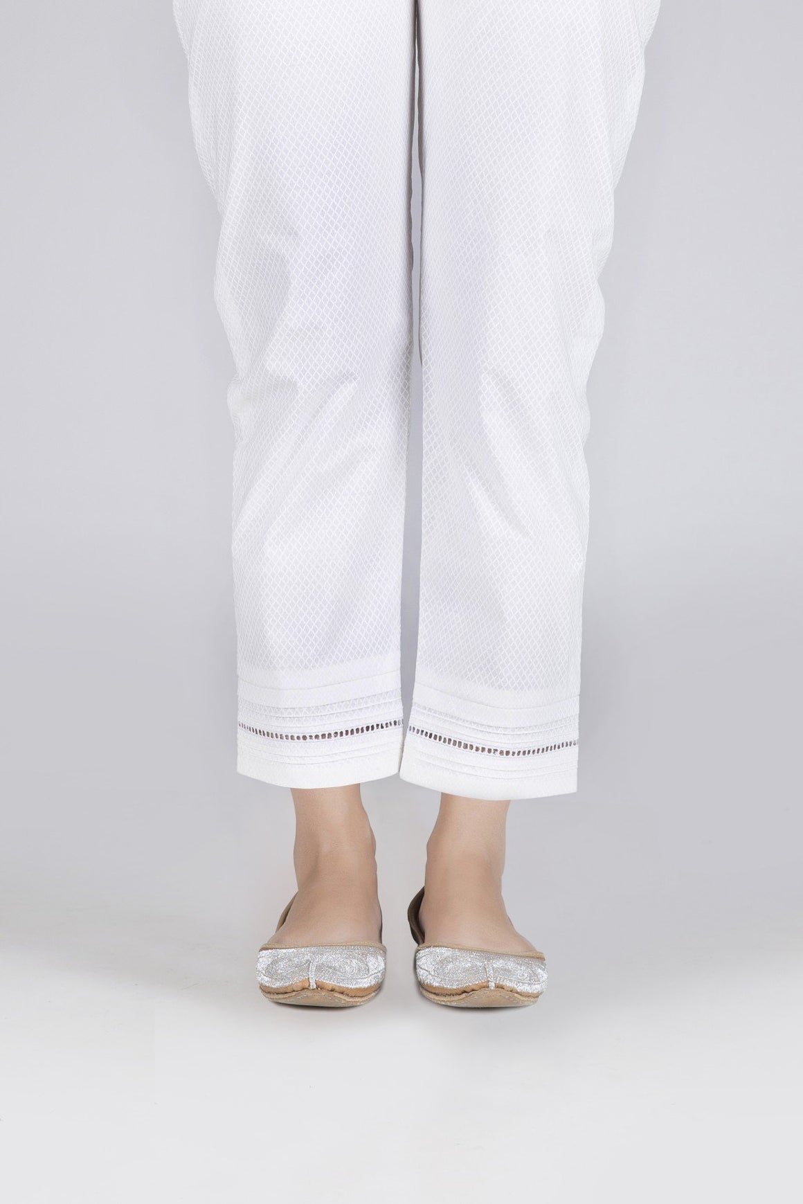 Bonanza Satrangi - Off-White Unstitched Trouser
