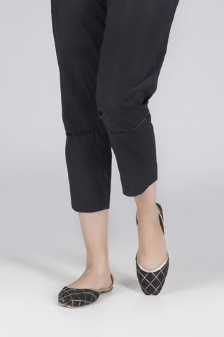 Bonanza Satrangi - Black Unstitched Trouser