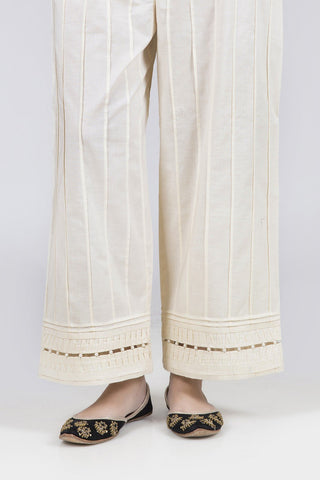 Bonanza Satrangi - Cream Unstitched Trouser