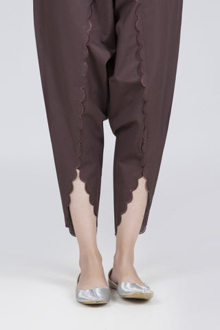 Bonanza Satrangi - Brown Unstitched Trouser