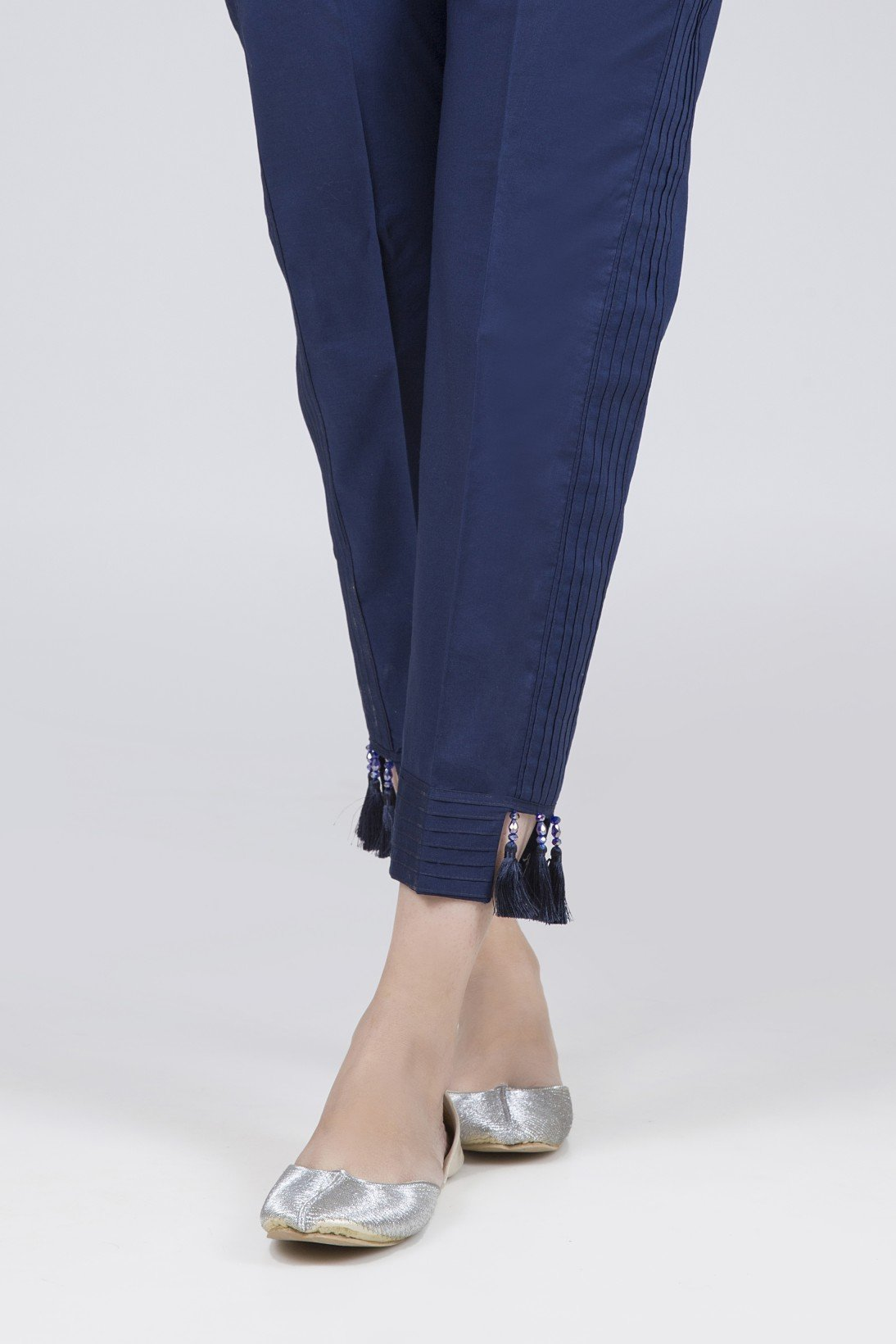 Bonanza Satrangi - Navy Blue Unstitched Trouser