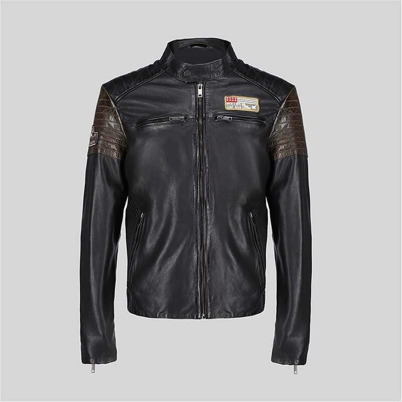 Novado - Mens Black  Leather Jacket - NMLJ-1407