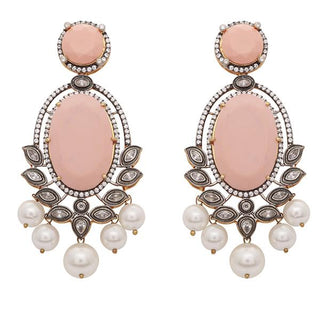 Red Dot Jewels - Leela in coral pink