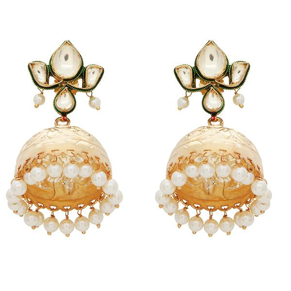Red Dot Jewels - Lotus Kundan Jhumki