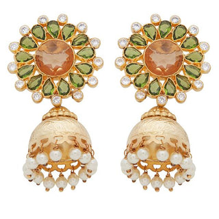 Red Dot Jewels - Gold Flower Jhumki