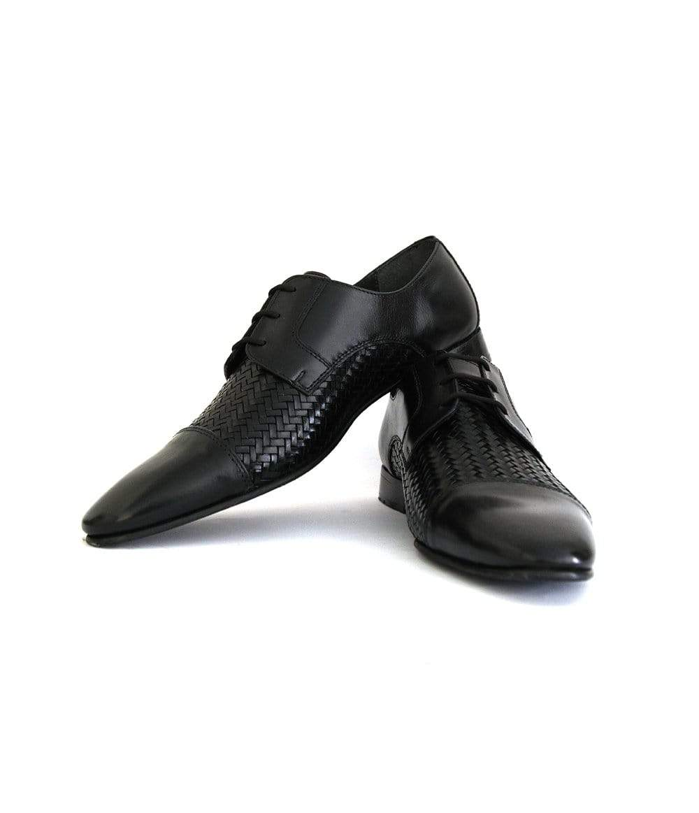 Mochi Cordwainers - Black Woven Oxfords