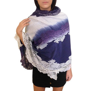 Amishi - Navy & White Two Tone Scarf