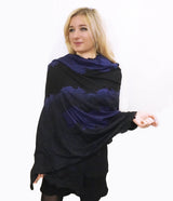 Amishi - Navy & Black Two Tone Scarf