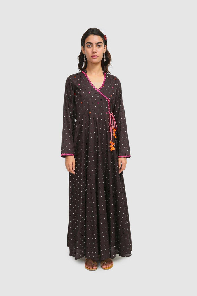 Generation - Black Taary Embroidered Dress - 1 PC