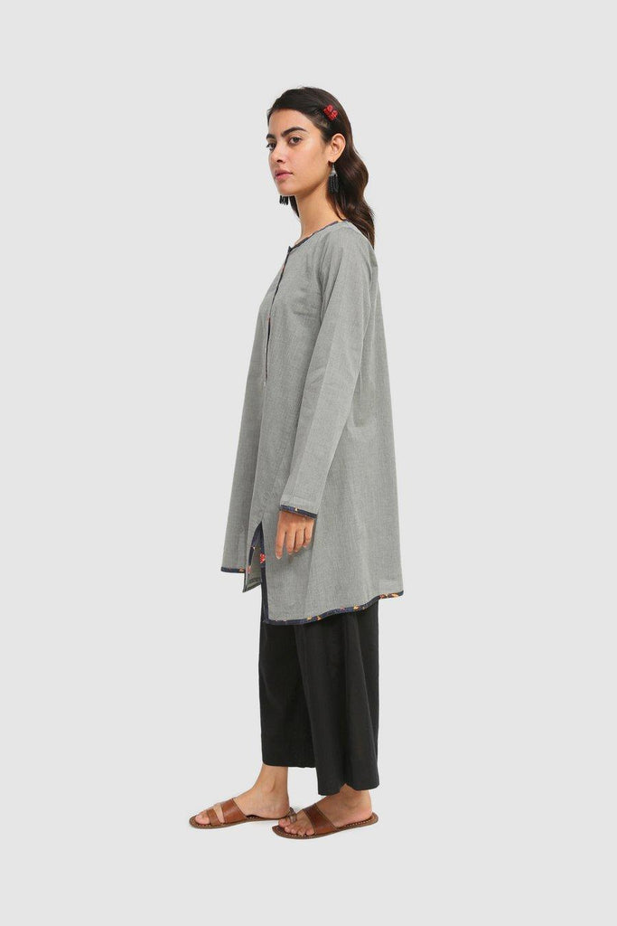 Generation - Grey High-Low Hem Rang Shirt - 1 PC